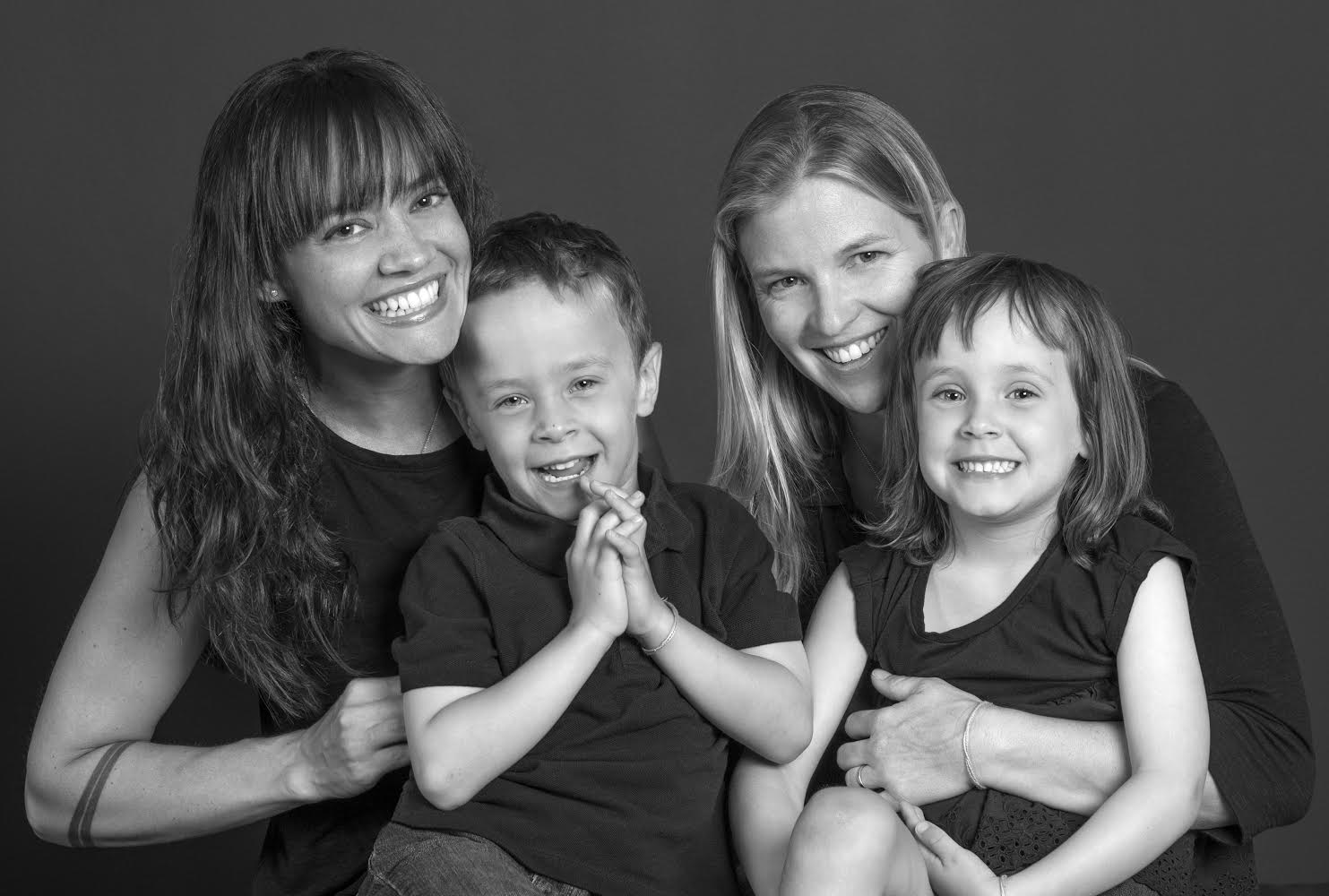 My beautiful wife Mary, our awesome twins Abraham and Elsaphina, and me, Alisa  *photographer katy tartakoff