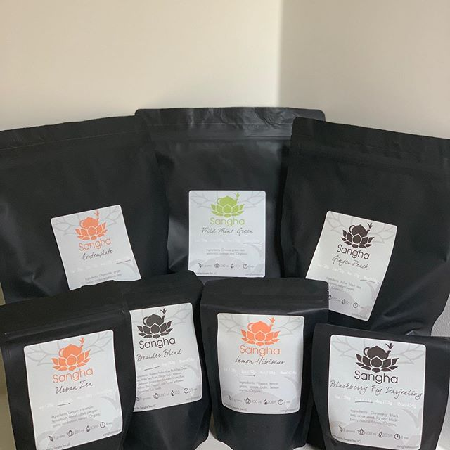 All packed up and ready to rock! While you get your do did @dbsuttonco you can sip on some super sweet #sangha #teas if you are in the market to #buytea @southernseason has got you covered!  Come out tomorrow for a #tea #demo from 12-3 by yours truly. See y'all then! . . . #befreetotea #womenownedbusiness #communityovercompetition #localbusiness #supportsmallbusiness #chapelhill #carrboro #saturdayshopping