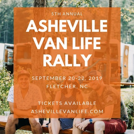 #roadtrip We are gonna head to #ashevillevanlife in September, so stoked!  We will be there with our awesomely tiny #happiercamper