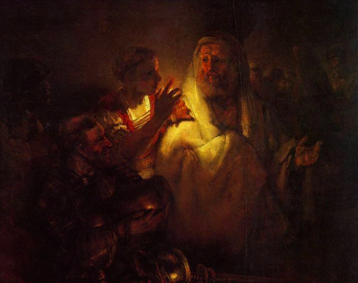 "Remebrandt's masterpiece: ""The Denial of St. Peter"" (1660)."