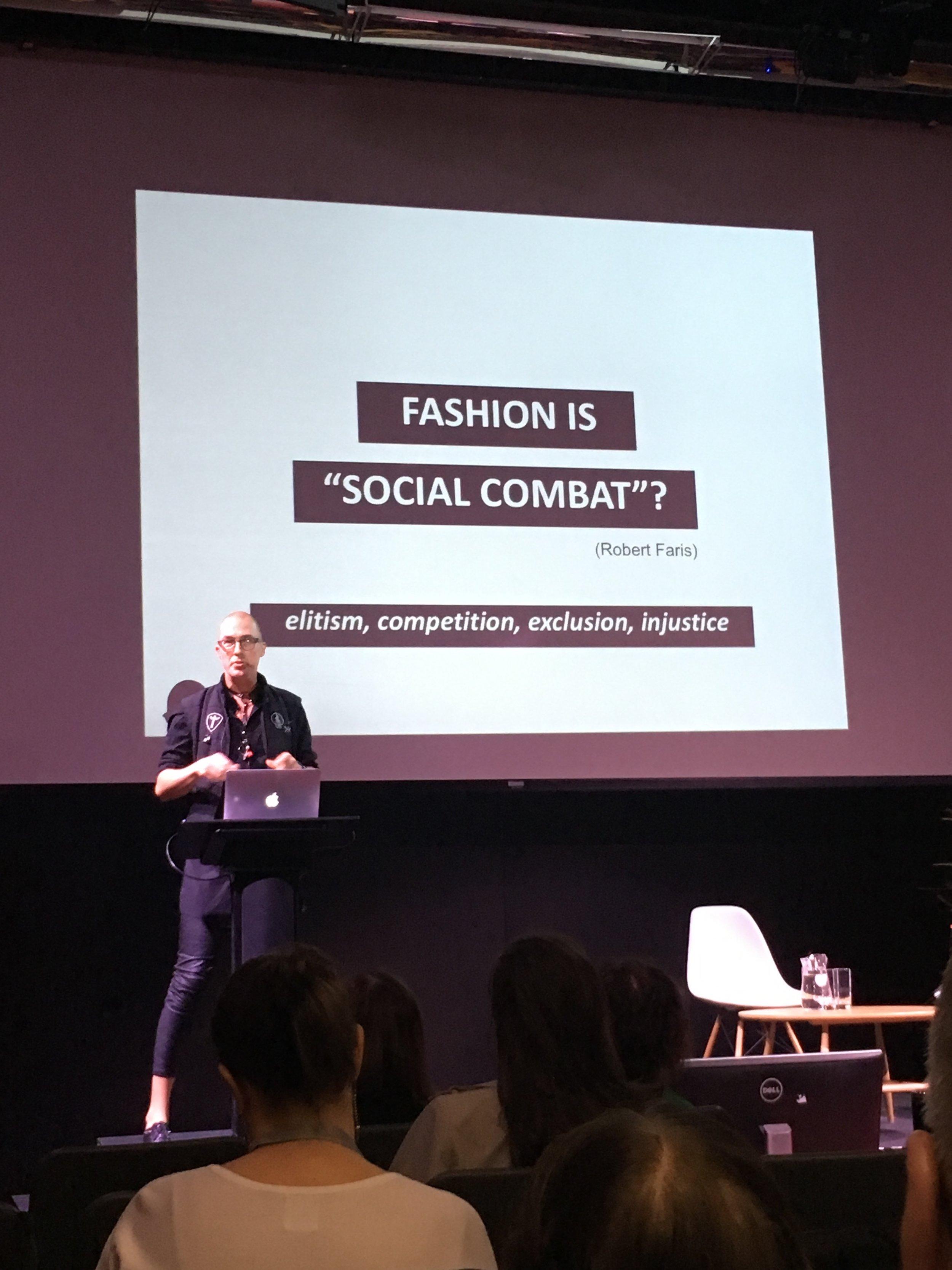 Otto Von Busch gave an inspiring talk on 'Fashion & Power'.