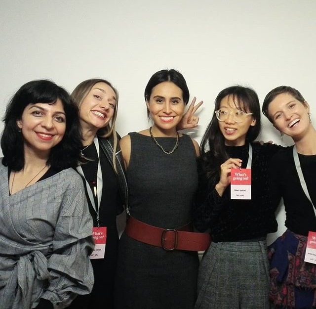 With other recent graduates of the London College of Fashion MA Fashion Futures program and fellow conference presenters;  Molly Vaid,   Isabella Gygax ,  Maryssa Obregon-Cook , and  Dian-Jen Lin.
