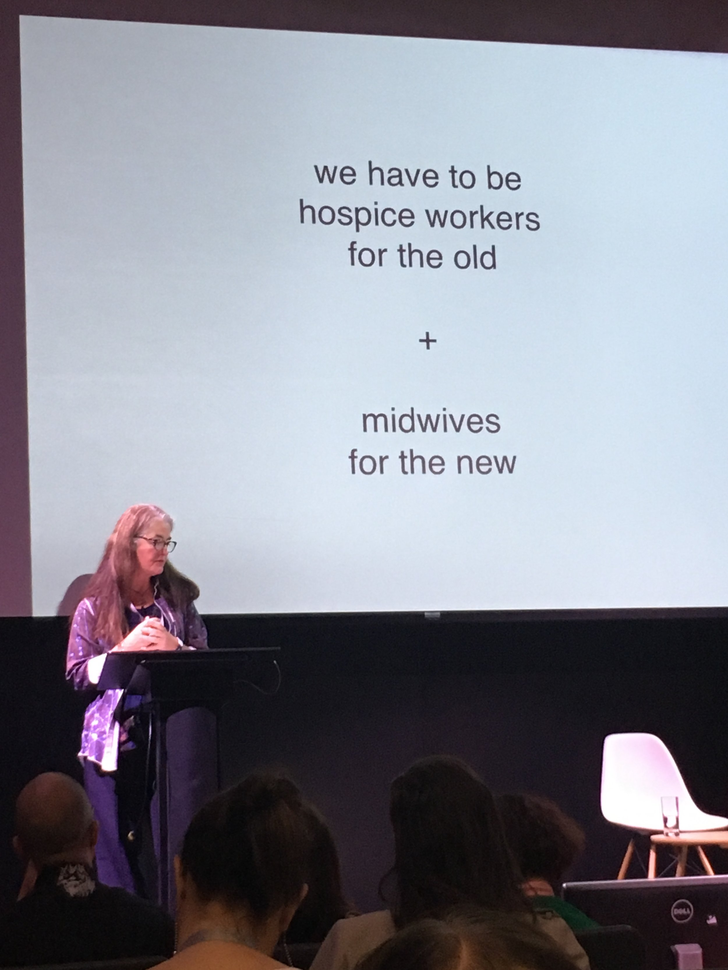 Lynda Grose delivering her inspiring talk.