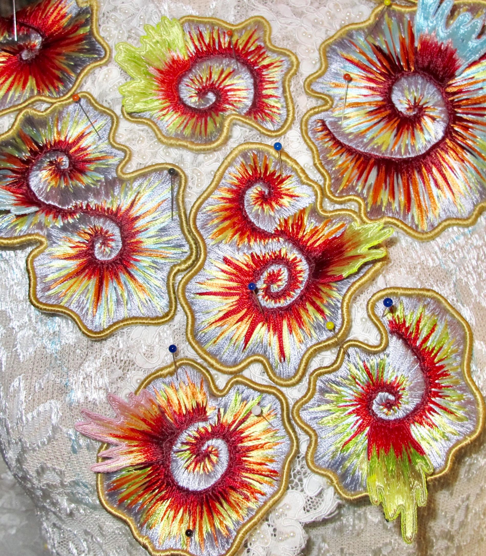 Hand embroidery samples, 2015. Ania Zoltkowski.