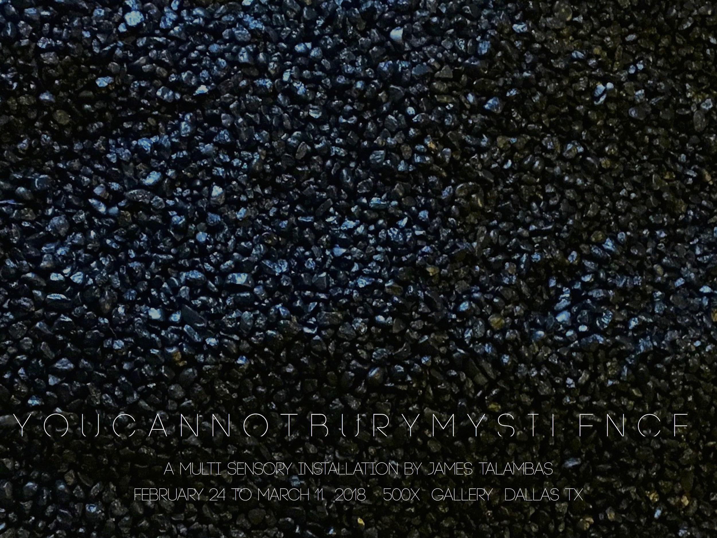 Solo Exhibition @ 500X Gallery: Dallas, TX (2018)