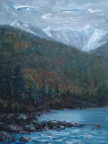 SQUAMISH - 24 x 18, acrylic on canvas