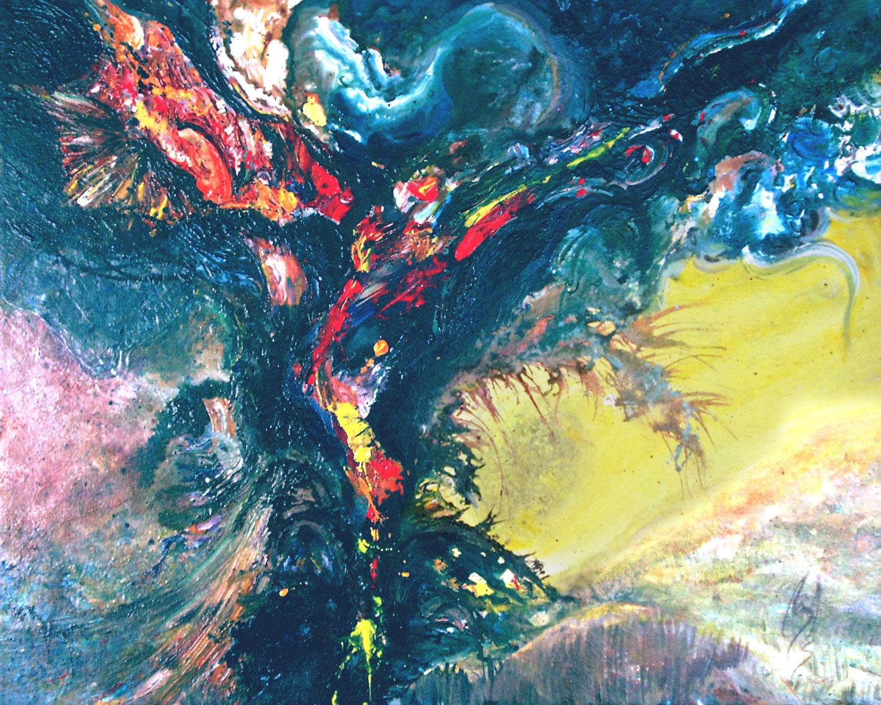 PHOENIX RISING - 24 x 30, acrylic o canvas