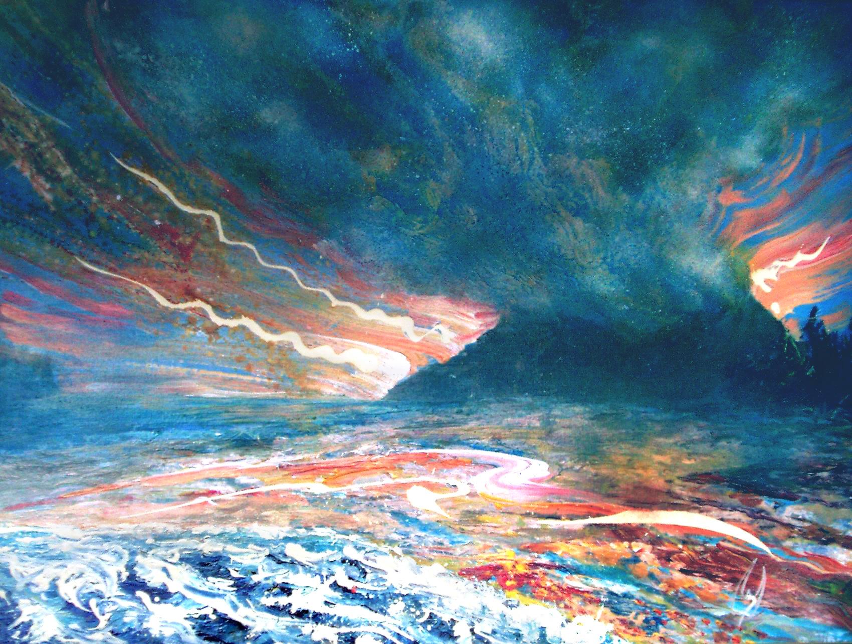 COSMIC CLOUD - 36 x 48, acrylic on canvas