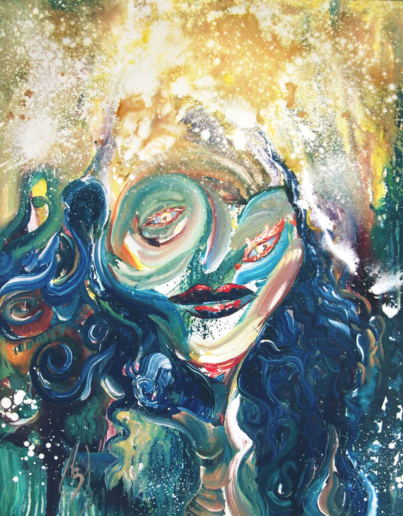 LOVELY WOMAN - 30 x 24, acrylic on canvas