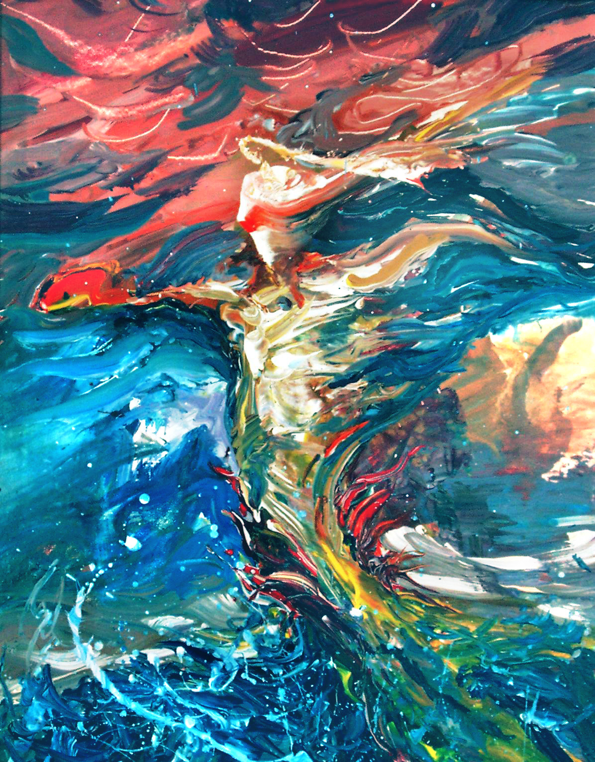 SEA GODDESS - 20 x 16, acrylic on masonite