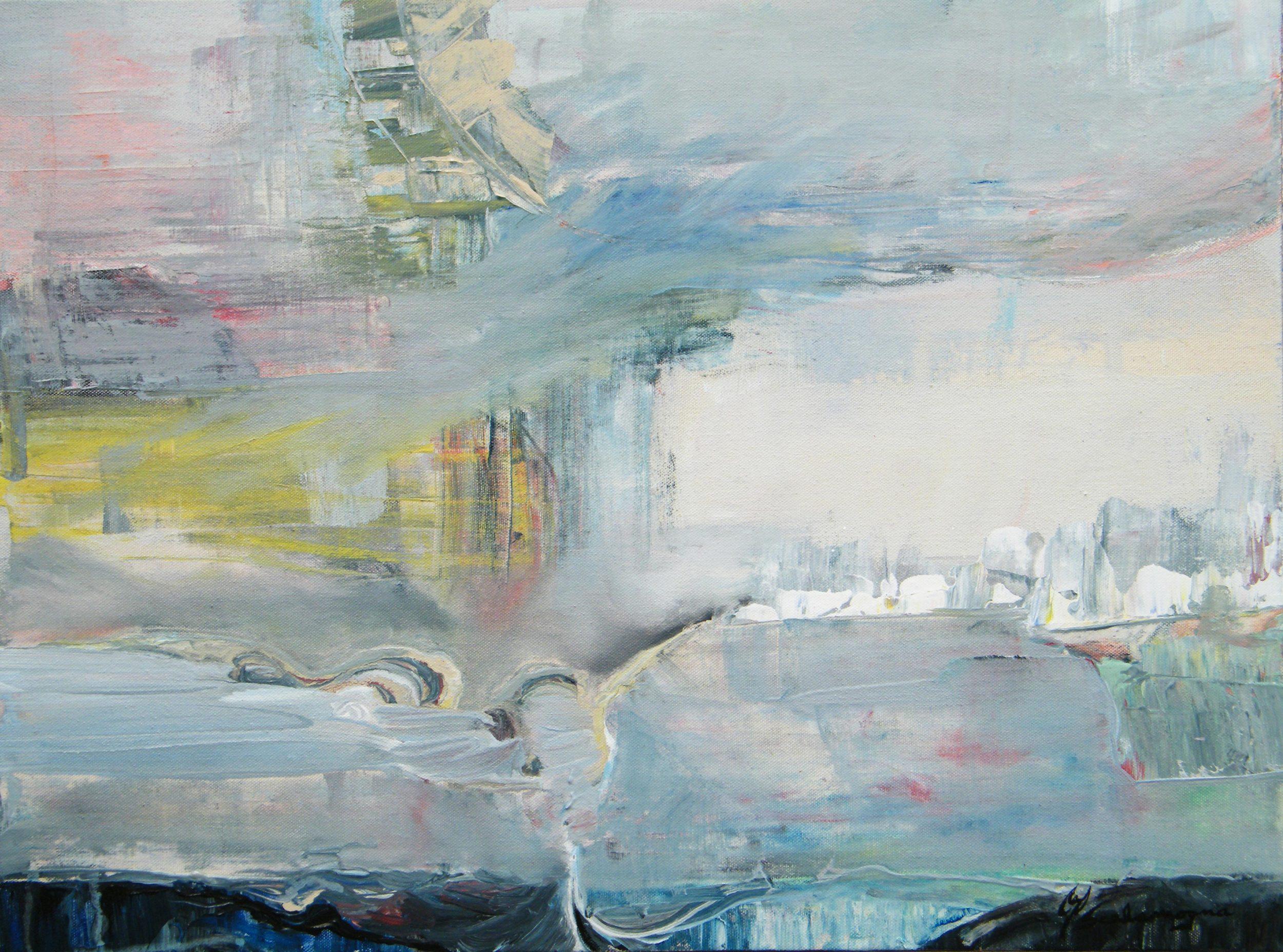 On the Horizon - 18 x 24, Acrylic on Canvas.