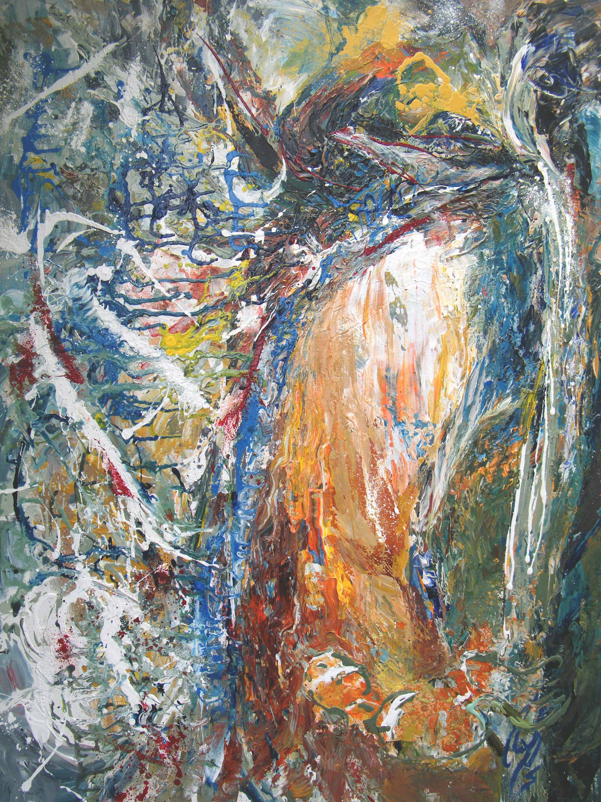 The Thinker - 48 x 36, Acrylic on Canvas.