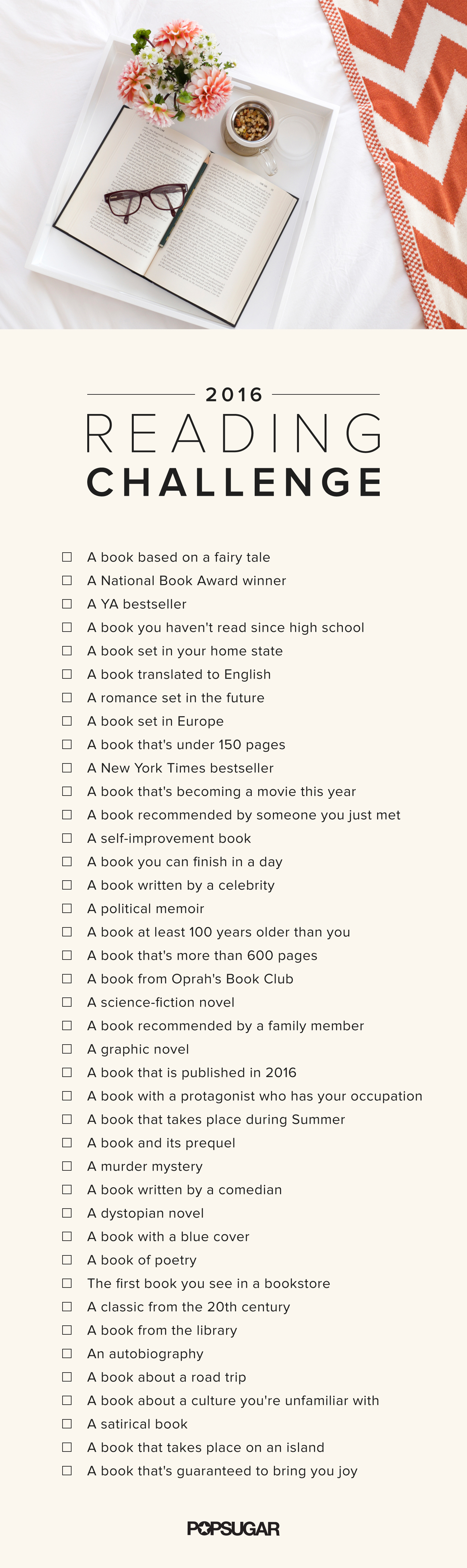 POPSUGAR 2016 Ultimate Reading Challenge