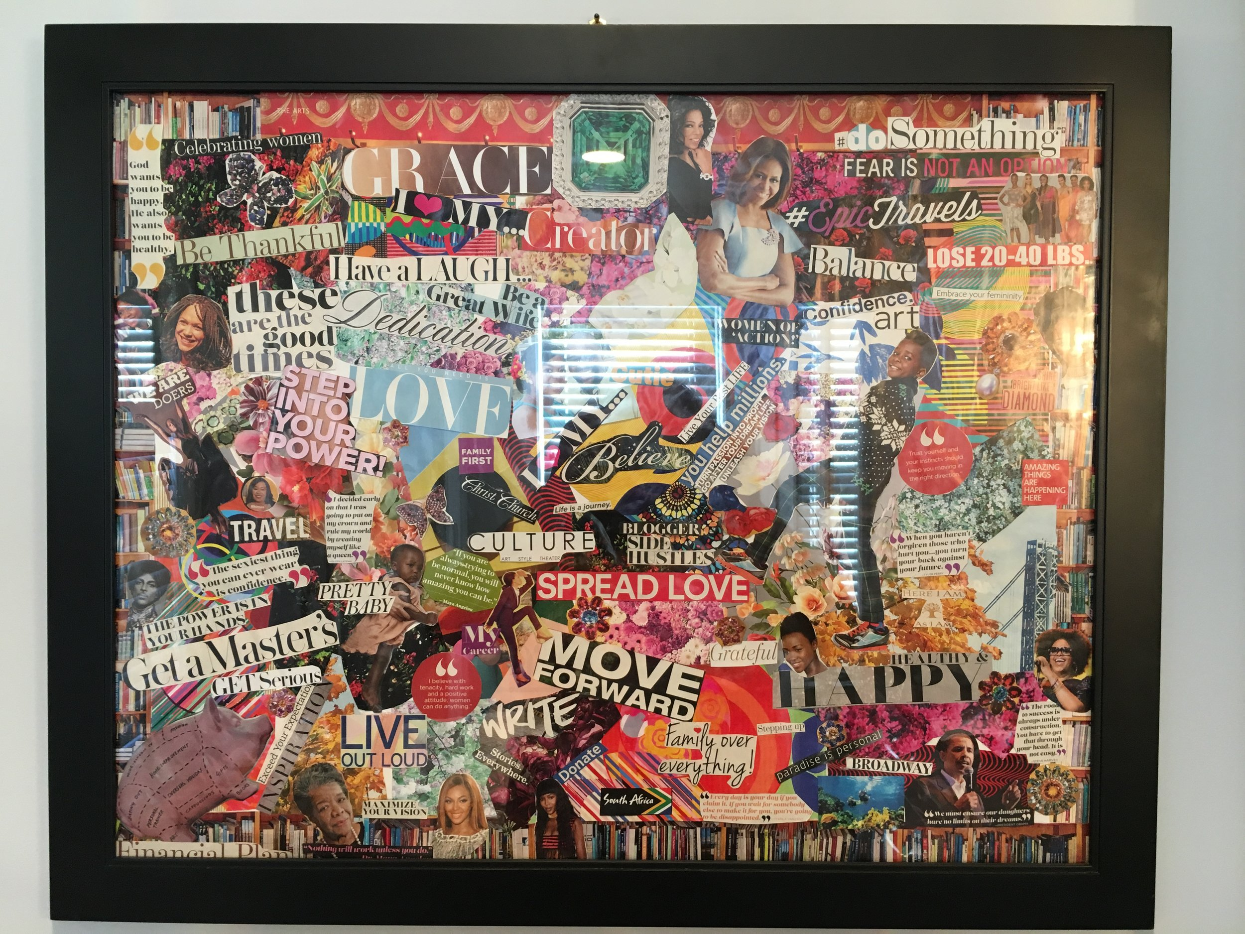 A not-so-clear picture of my vision board