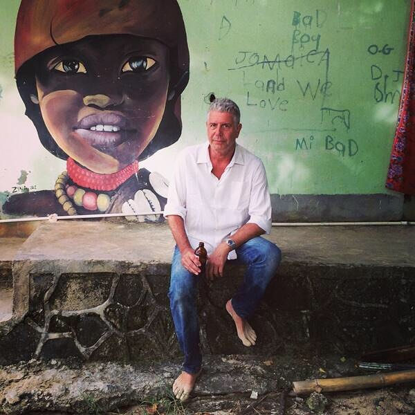 This took my breath away. Anthony Bourdain was a real rock star. Through his shows we learned an appreciation of cultures that we never knew existed, foods we never knew were possible, and people that we never thought we'd be exposed to. My personal Bourdain story was in 2014, my husband and I honeymooned in Port Antonio, Jamaica shortly after the Parts Unknown crew had finished filming there. The excitement that the hotel staff and locals had made me hurry to watch the episode as soon as it aired. It was a beautiful celebration of the complexities that are Jamaica; the natural wonder, it's salt of the earth people, it's amazing food, the magical culture. He also shed light on its classism, the barriers imposed on native Jamaicans by the hotel industry, and the resilience of the people amid the residues of colonialism. I will always respect Mr. Bourdain for that. I pray that his soul will Rest In Peace. Thank you Anthony Bourdain. One Love ❤️🇯🇲. . . . #rip #ripanthonybourdain #partsunknown #anthonybourdain #mystory #portantoniojamaica #portantoniojamaica #tridenthotel #geejam #leonianj #onelove #jamaica