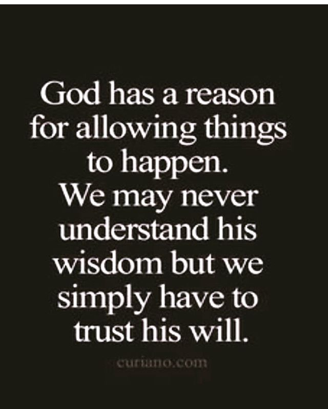 Even when I don't understand, I know that God is in control. #thywillbedone
