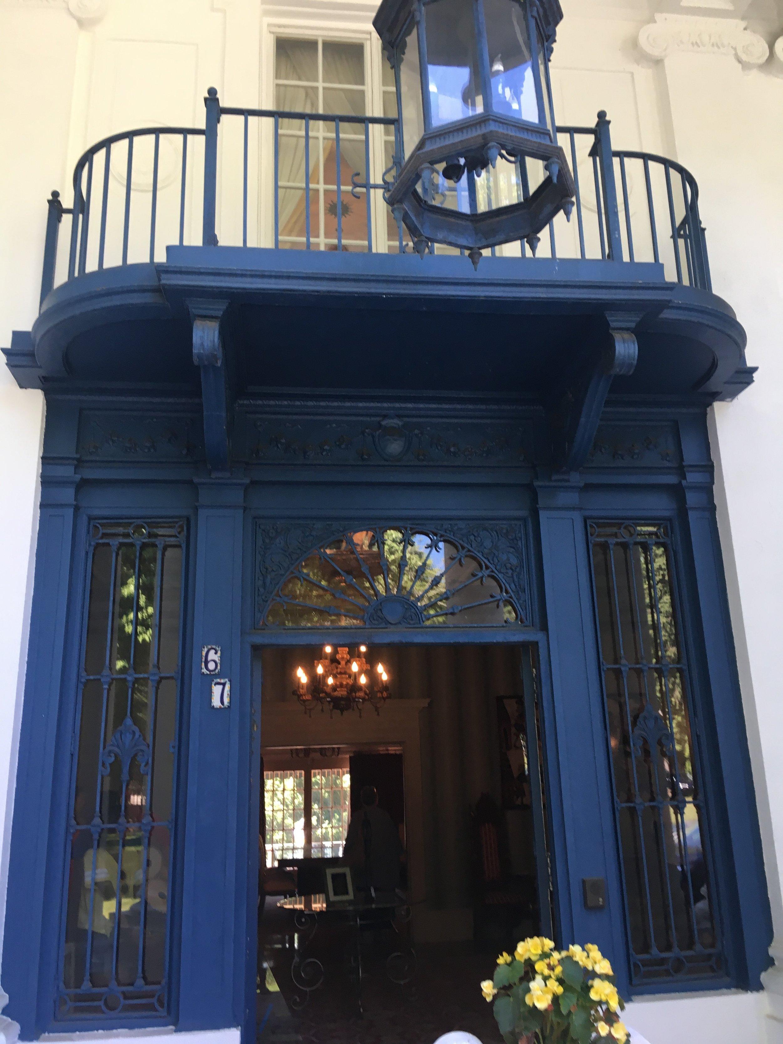 Villa Lewaro Blue Entryway - Photo by Tevra F.