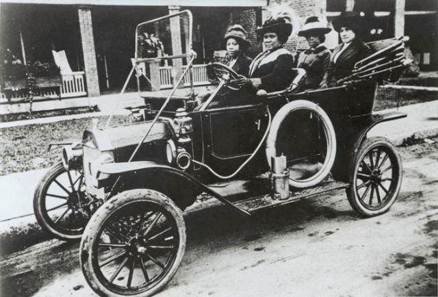 Madam C.J. Walker in her Model T