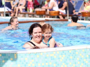 swimming on board the carnival ecstacy
