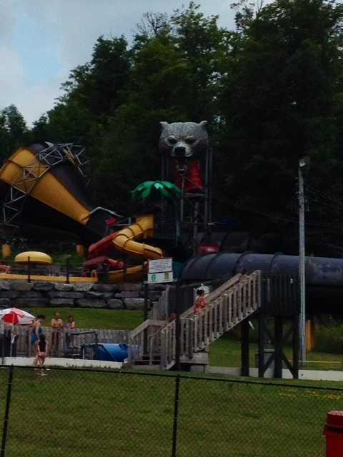 A terrible picture (the angry clouds had rolled in!)of the new Splash Forest, exclusively for families and kids of all ages.