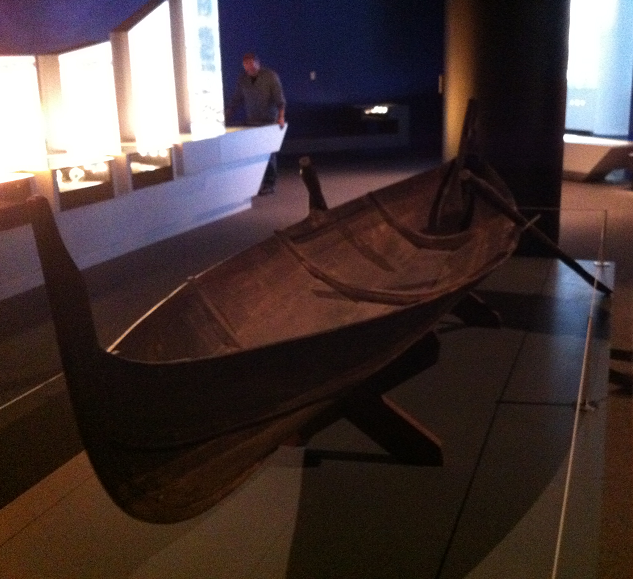 A traditional Viking boat