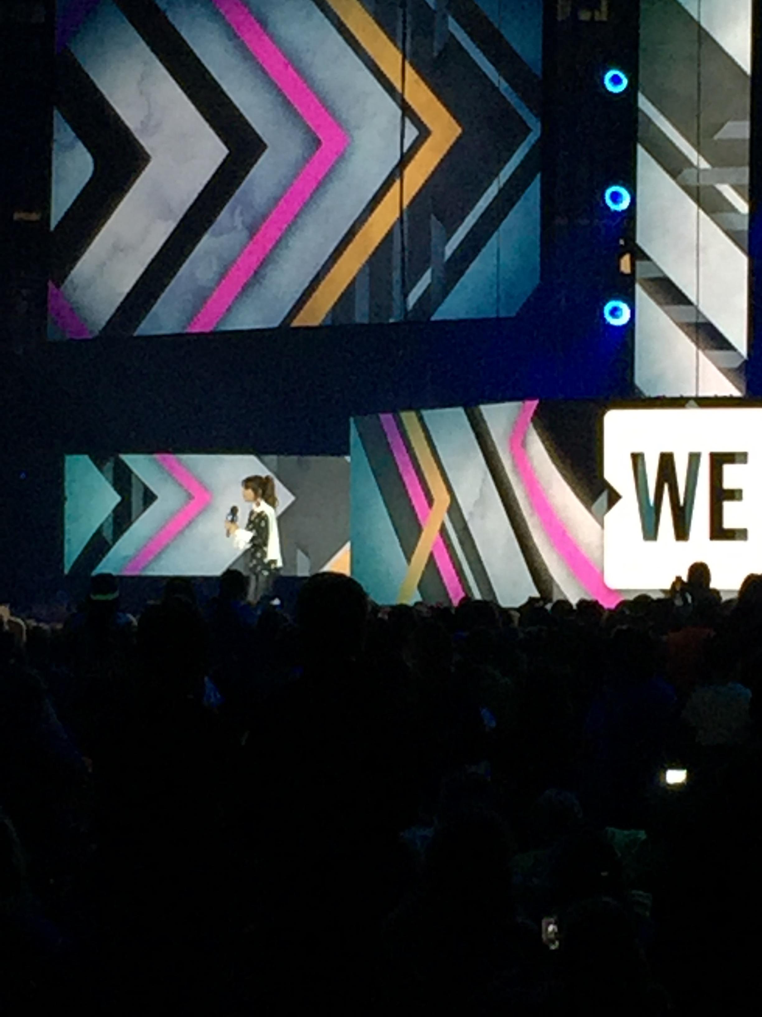 Paula Abdul, onstage at WE Day Ottawa
