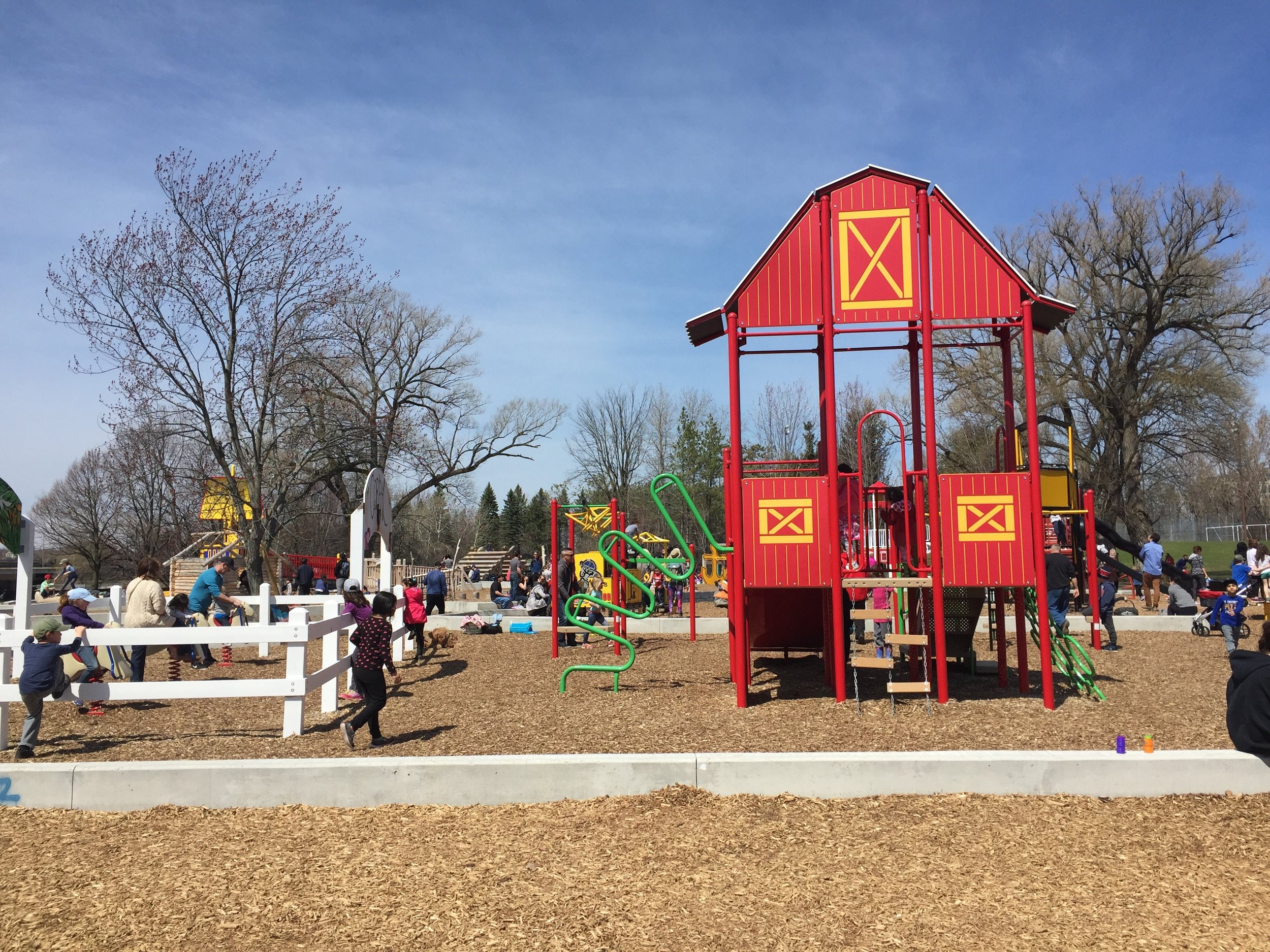 Can you guess what part of Canada this section of the playground is?