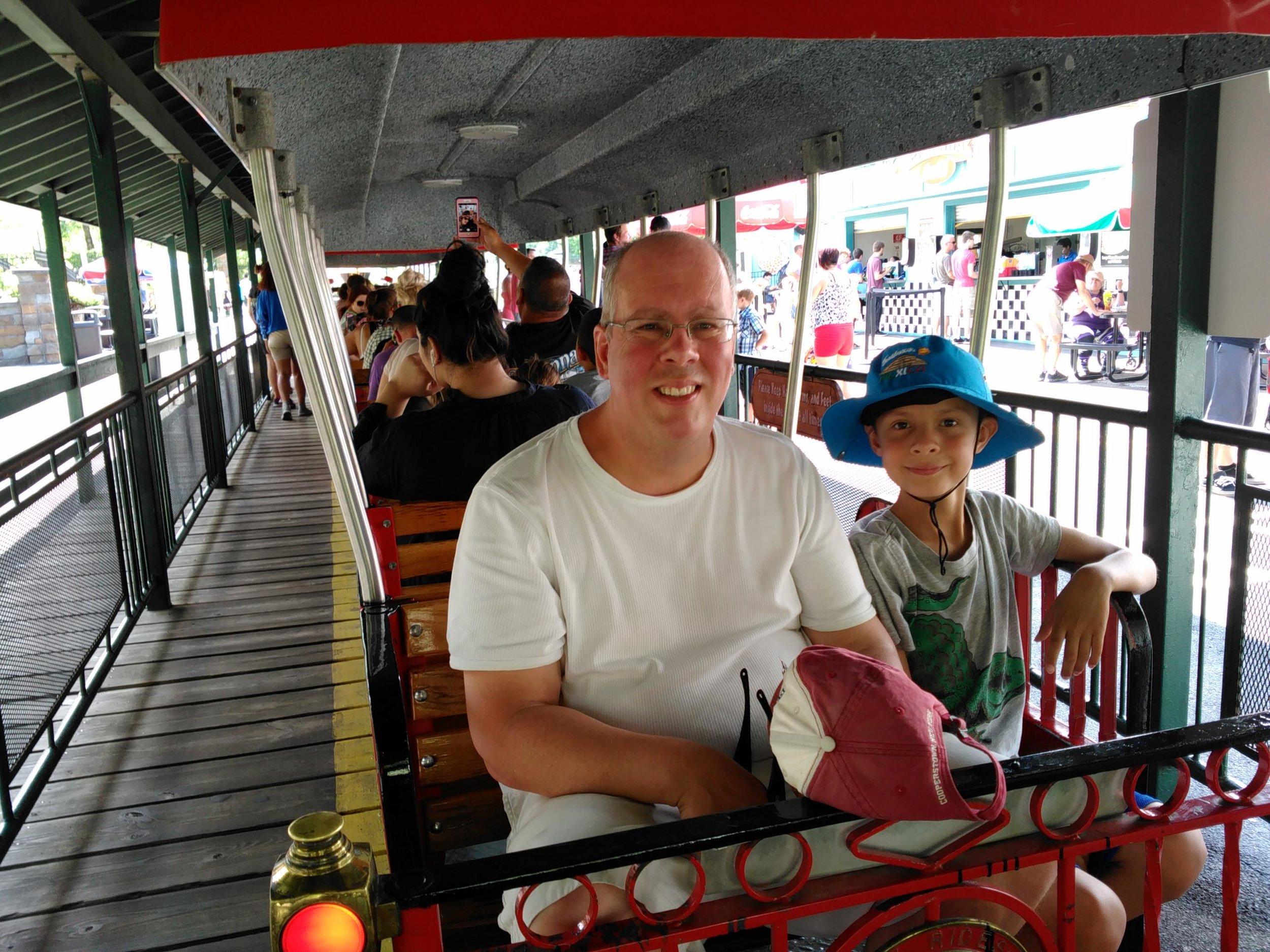 Six Flags wooden roller coaster