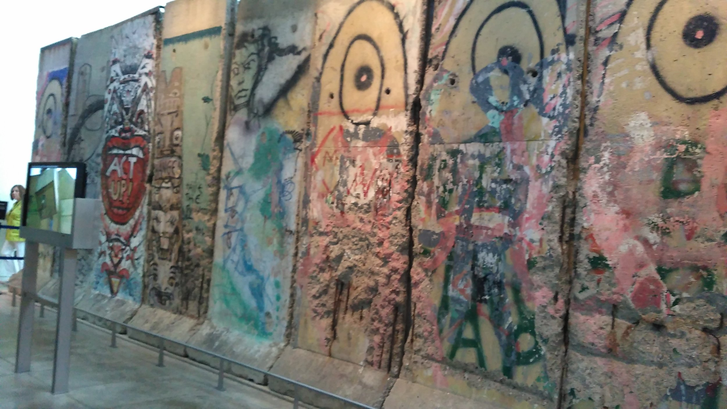 Photo of Berlin Wall at Newseum