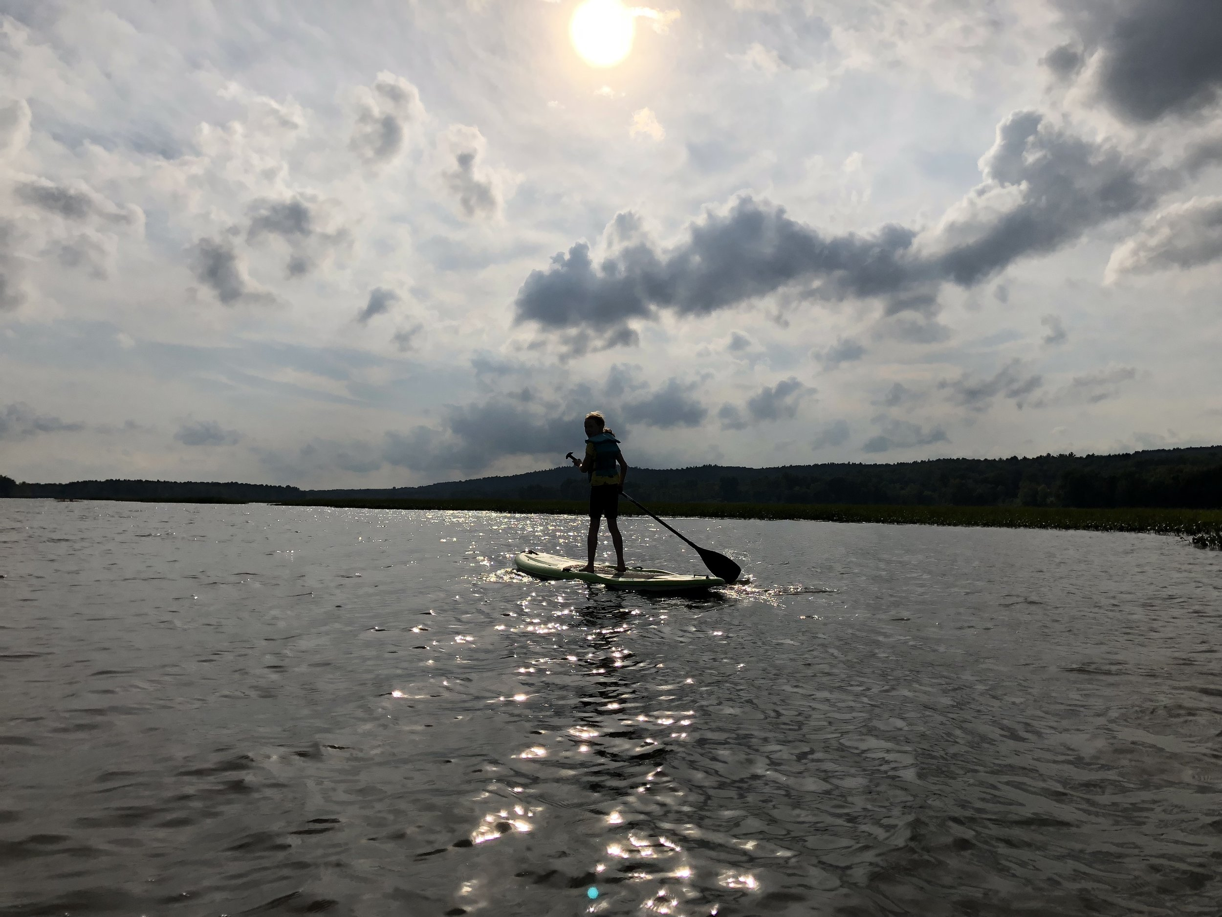 Paddle boarding at Chateau Montebello