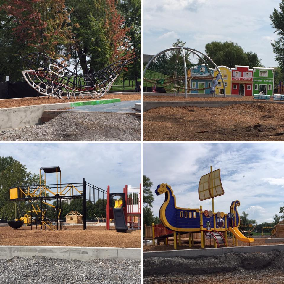 Canada-Themed playground at Mooney's Bay