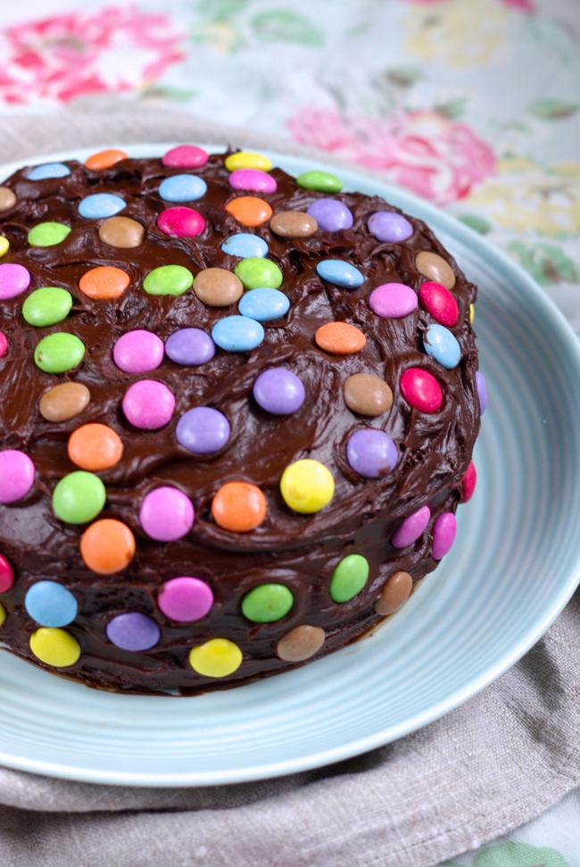 Easy chocolate birthday cake via  Mrs Rachel Brady