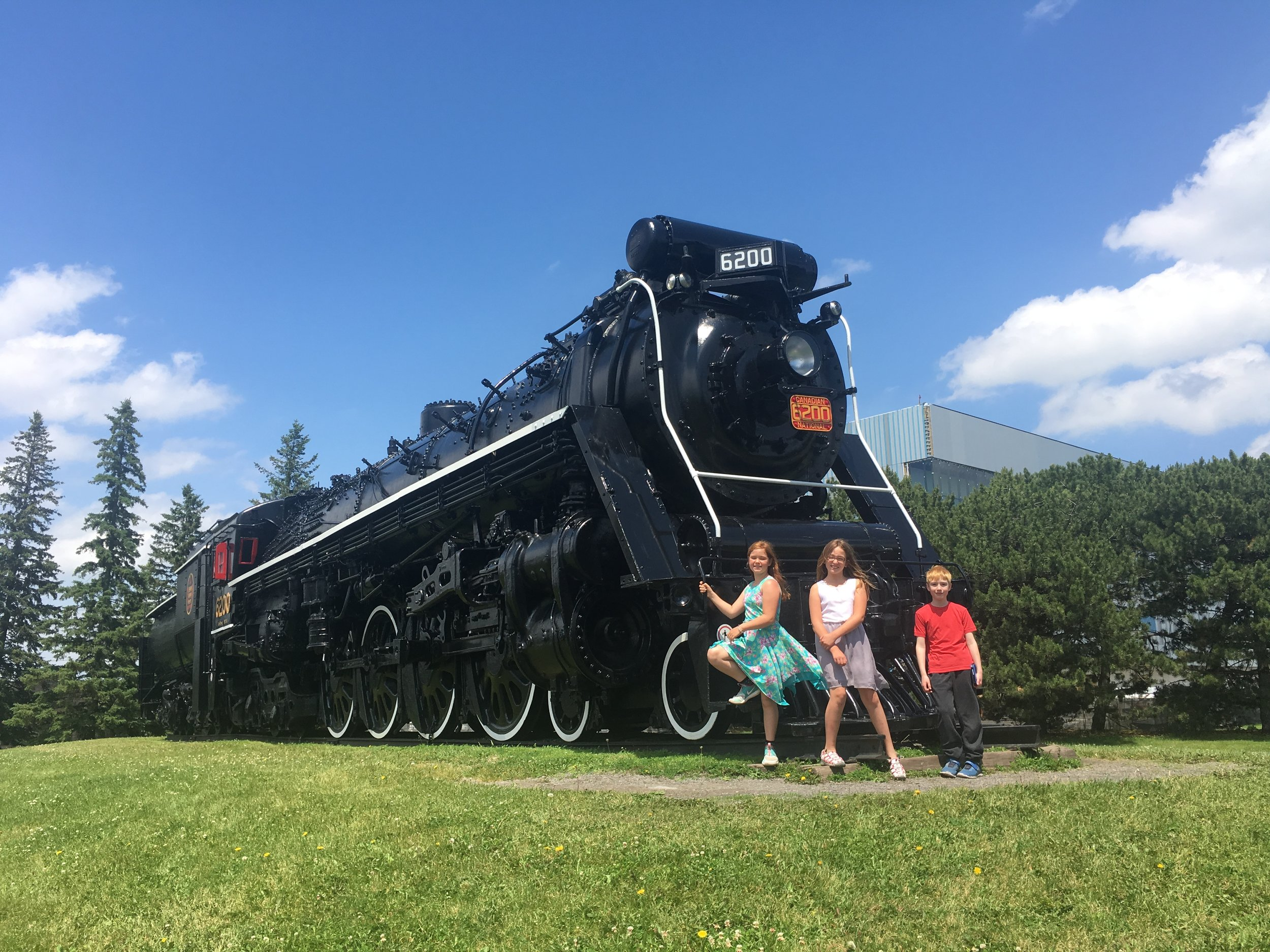 Visit the train by the Science and Tech museum on St Laurent