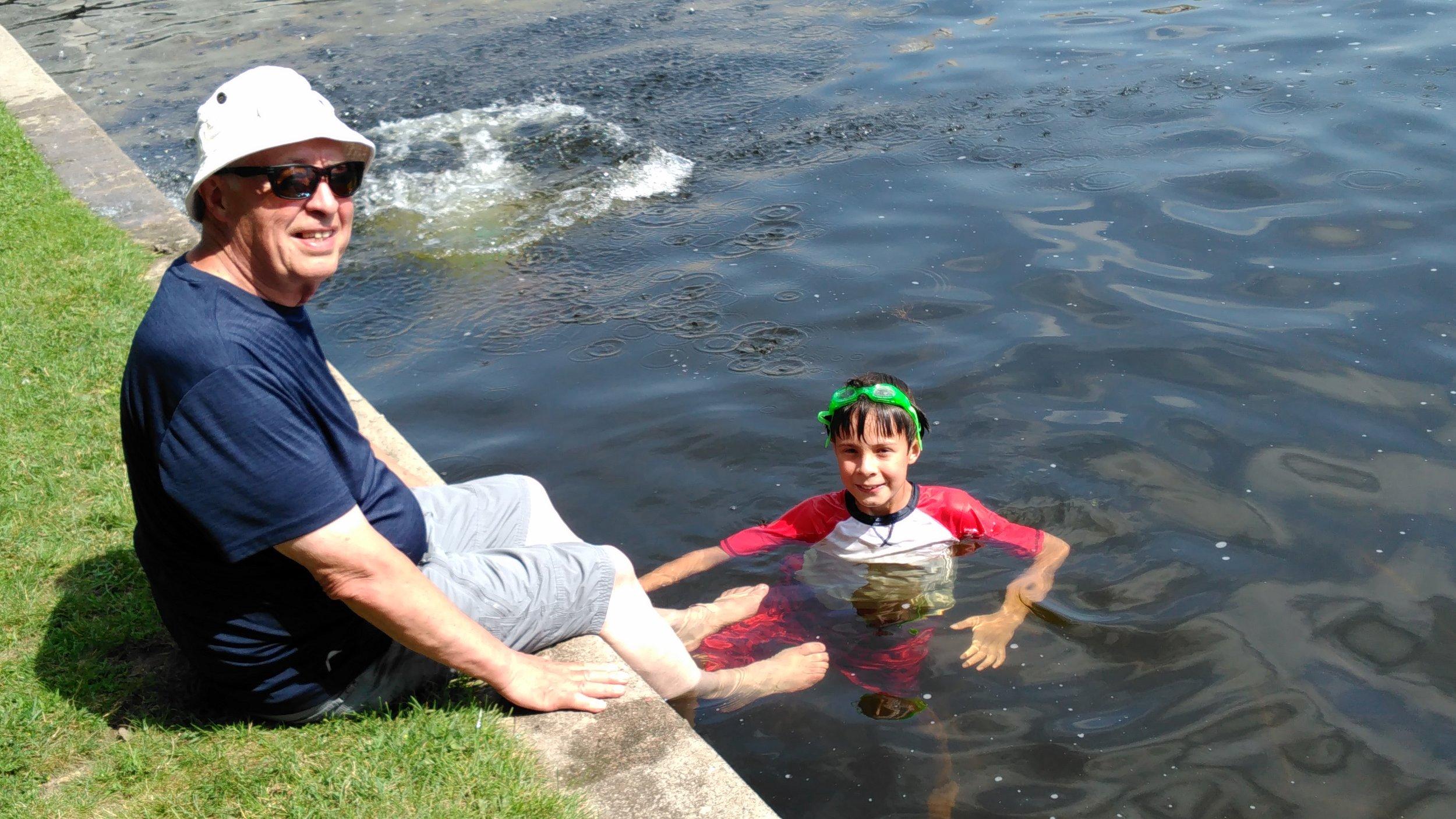 Swimming Area - Rideau Canal locks