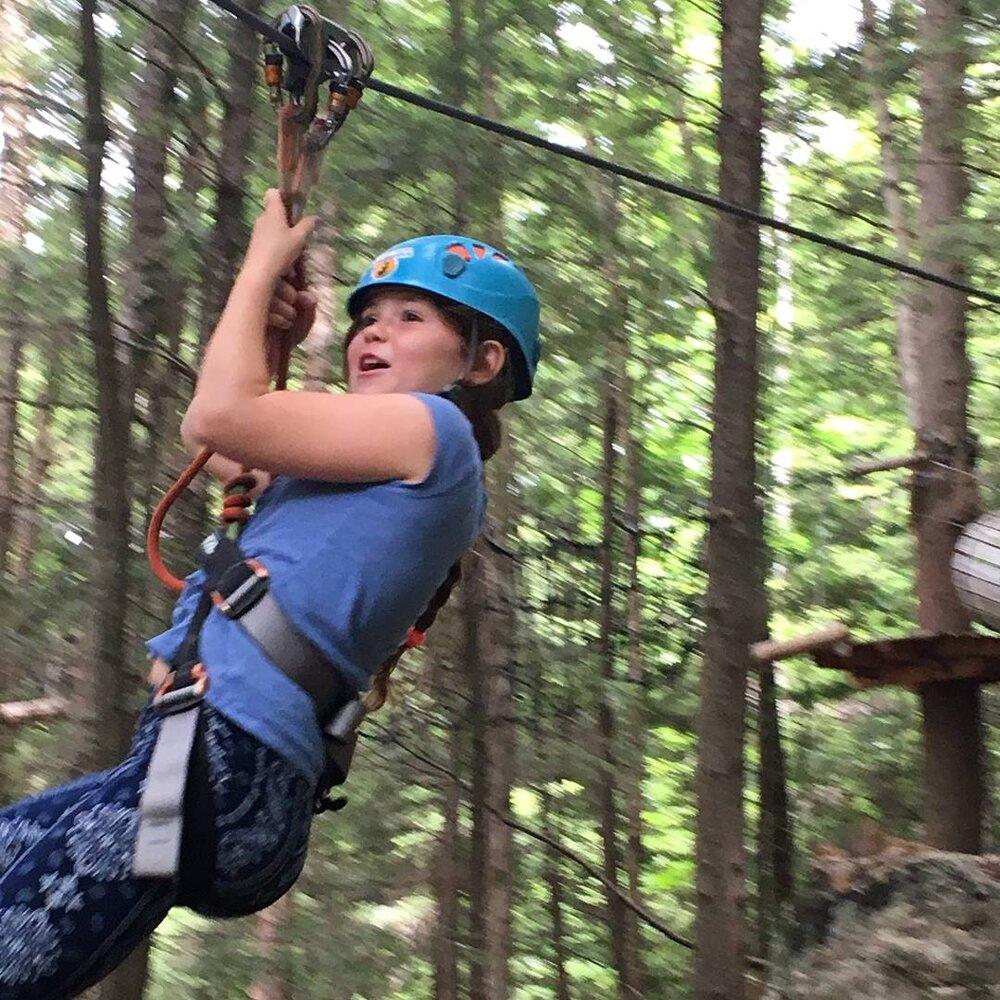 Youth zip lining at arbraska lafleche