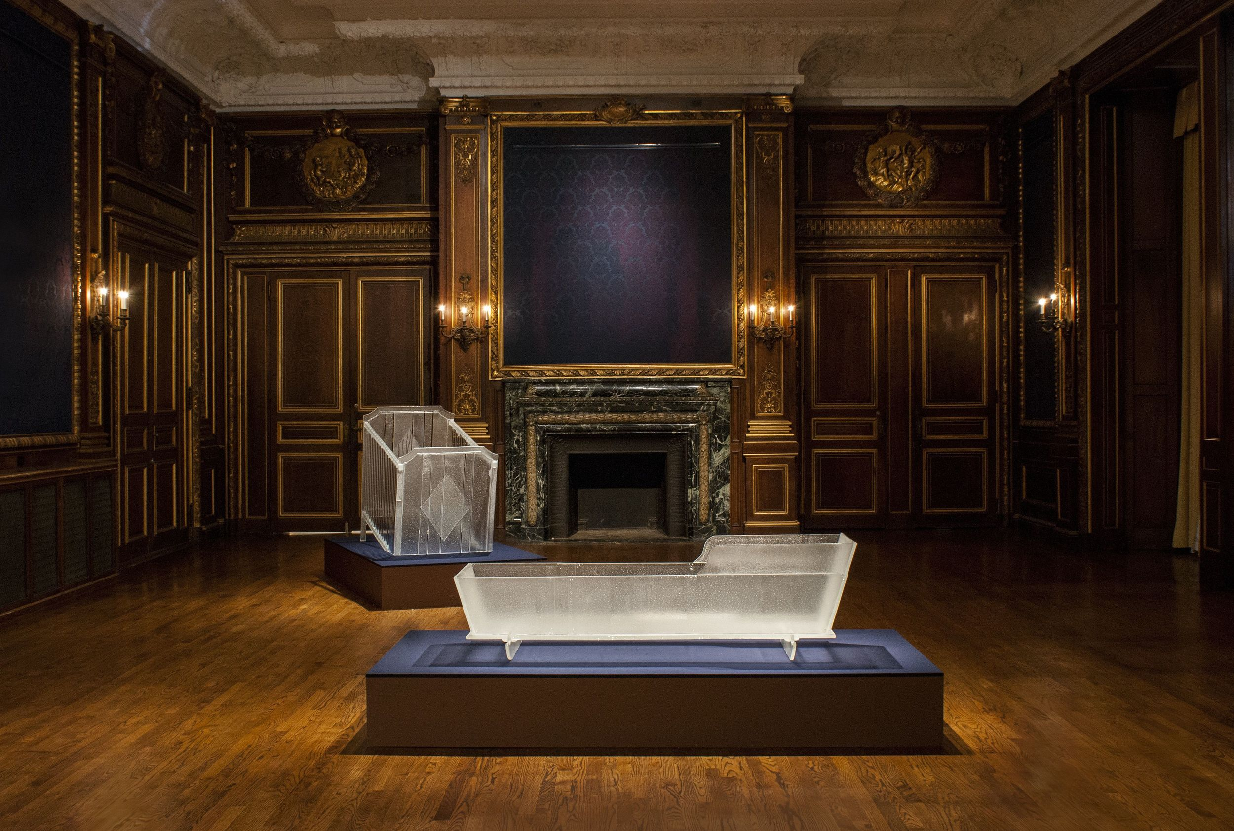 Installation of Crib and Cradle in Precarious Possessions, photo credit: John and Mable Ringling Museum of Art