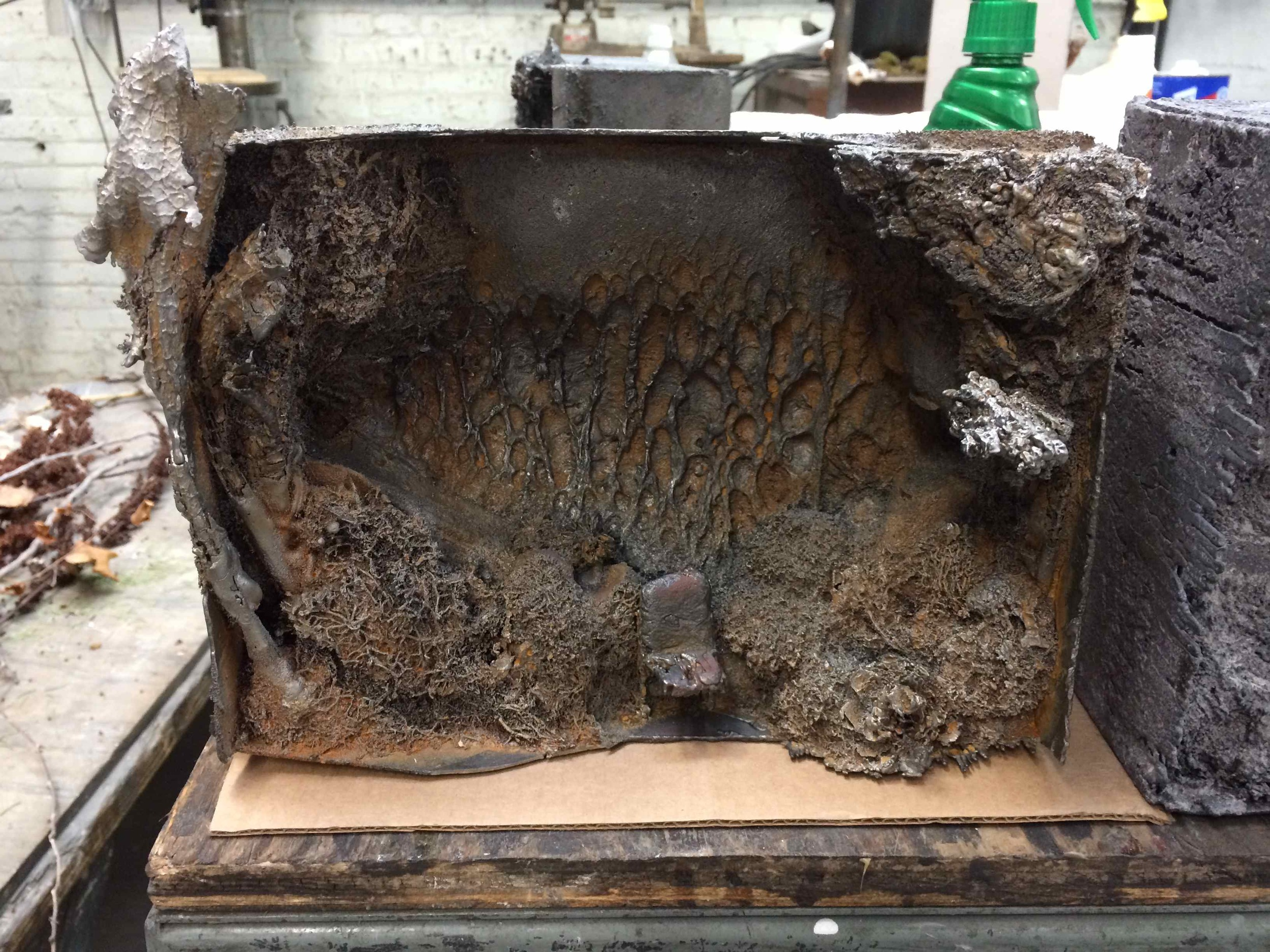 Paleo Landscape, cast iron with rust patina in the amazing Arts/Industry Residency at Kohler Co.'s Foundry