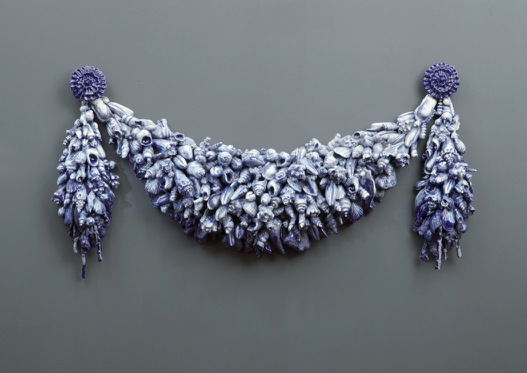 Blue Swag , 2003, ceramic, photo credit: Frick Pittsburgh