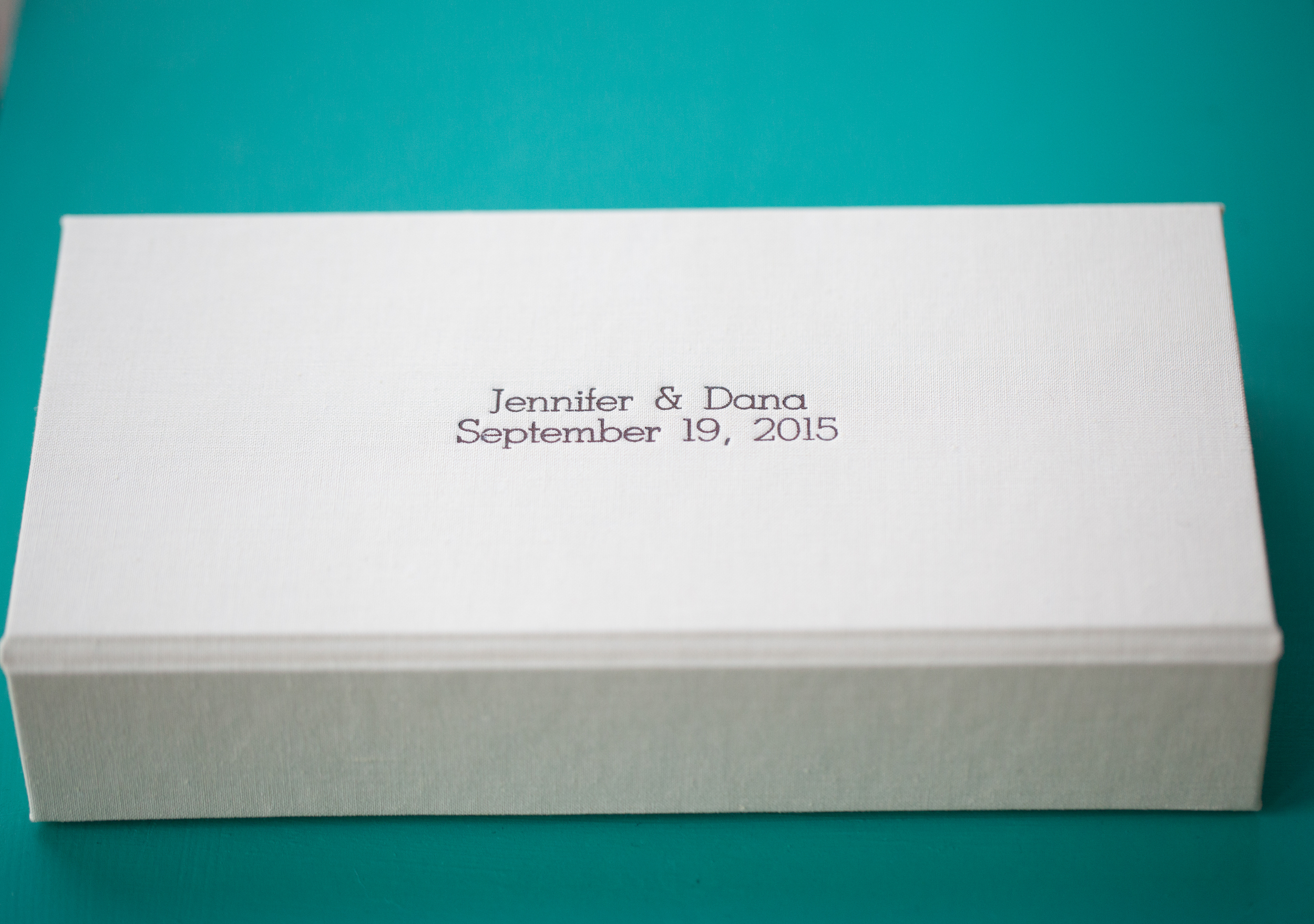 Presentation Box with Bride and Grooms Name Engraved