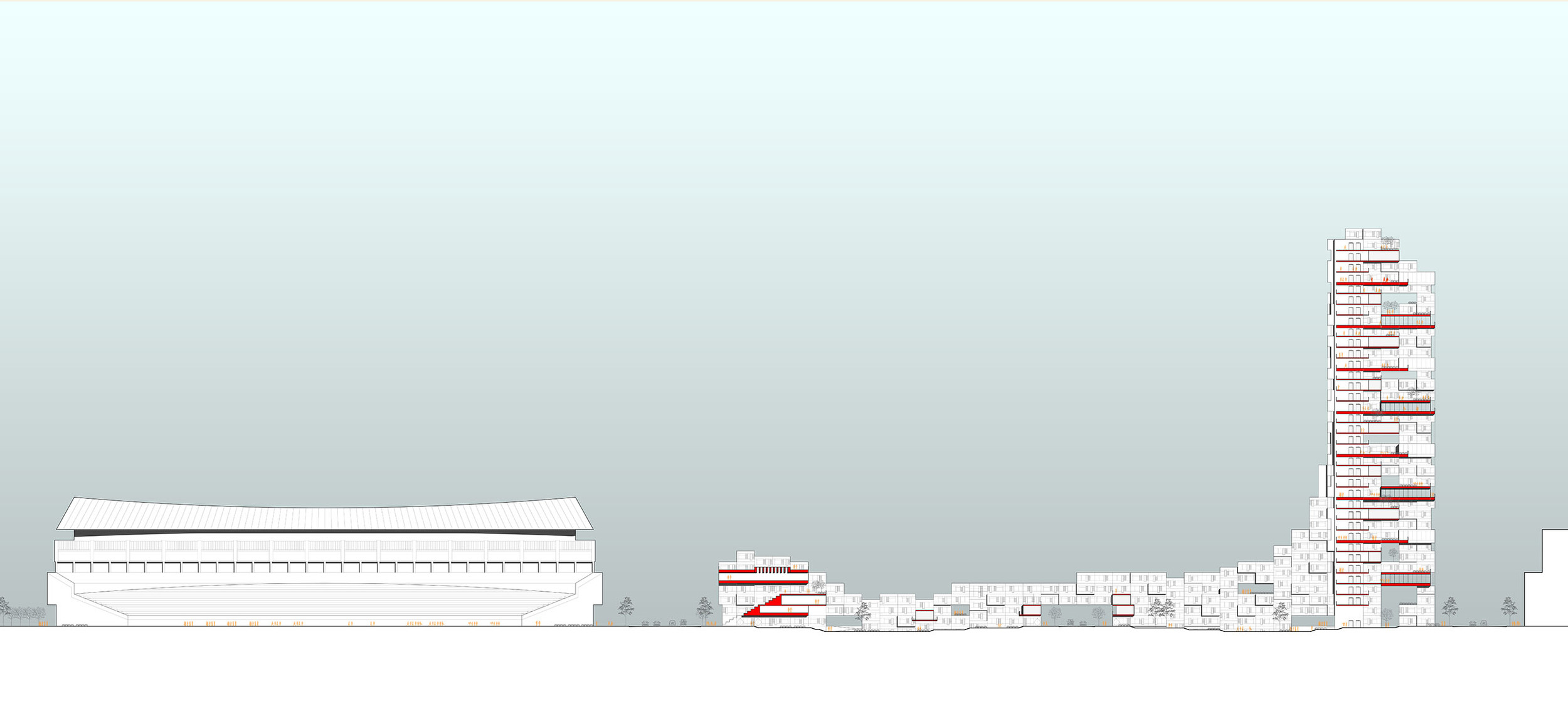 Beijing Olympic Park South Master Plan - Site Section.jpg
