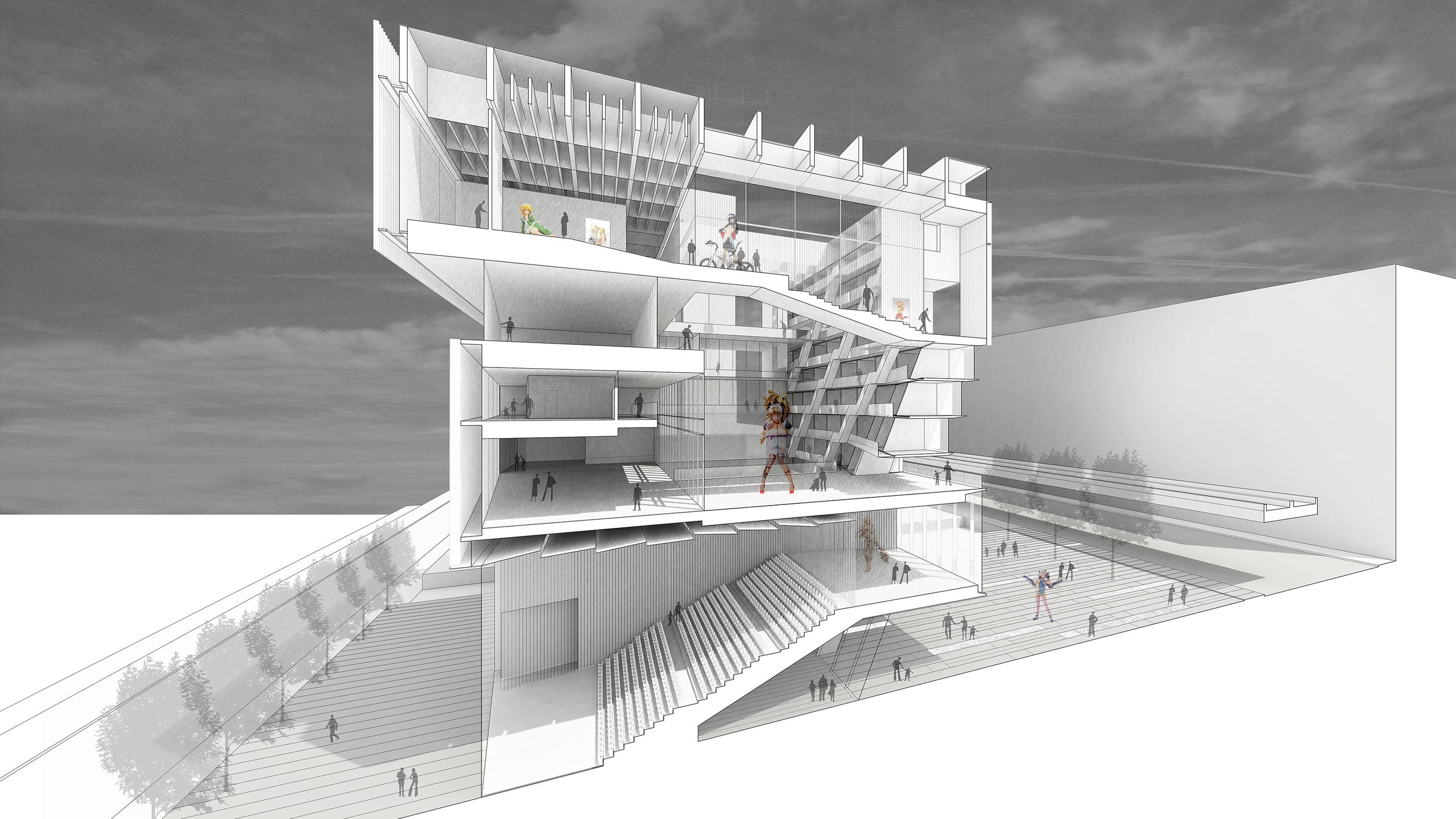 National Manga Museum - Perspective Section.jpg