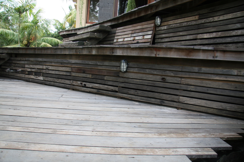Exterior Swimming Pool Decking Reclaimed Wood