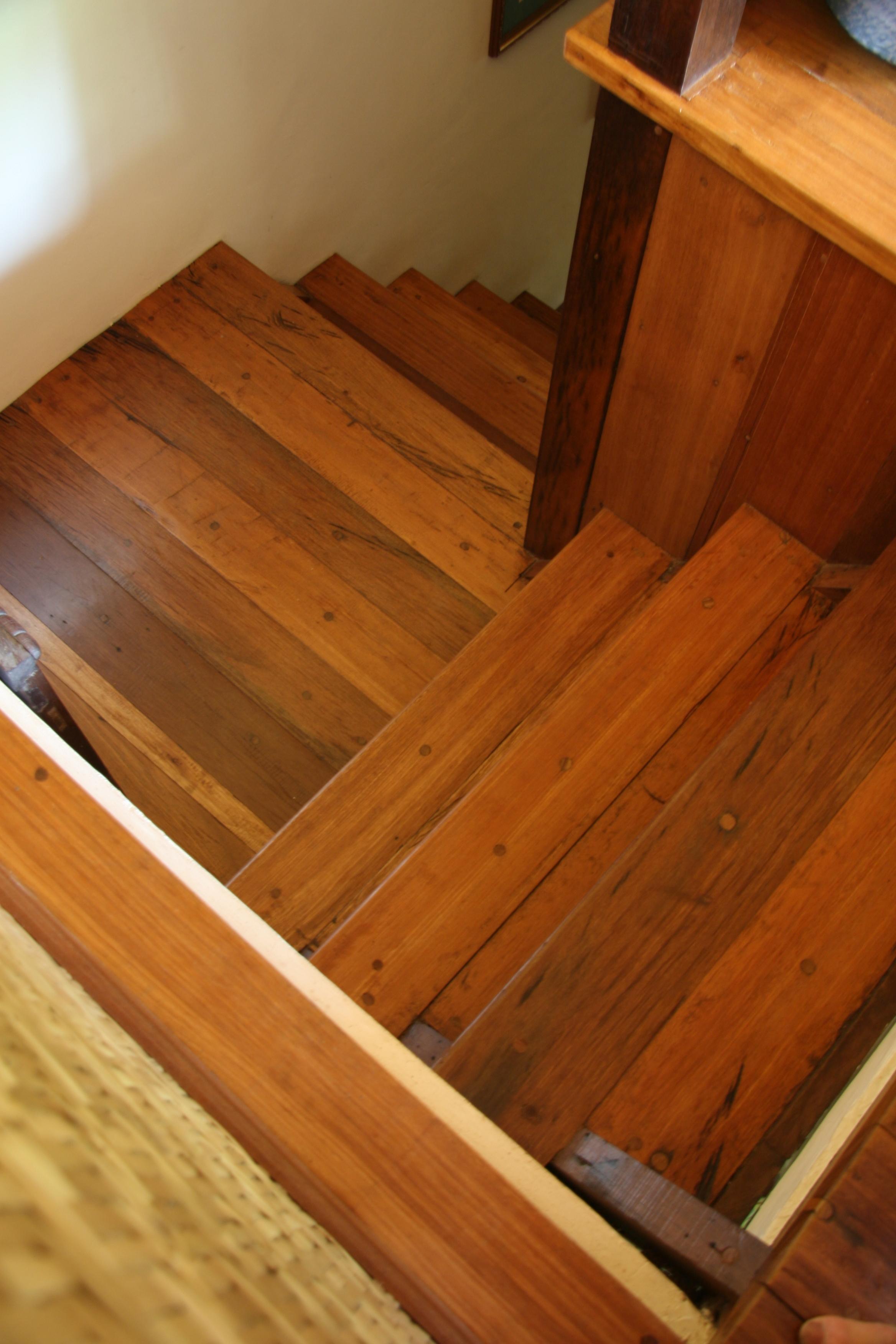 Wooden floor & stairs