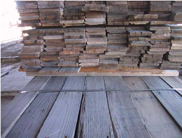 Reclaim wood waiting to be re-used