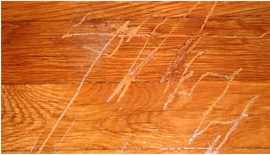 Scratch on flooring