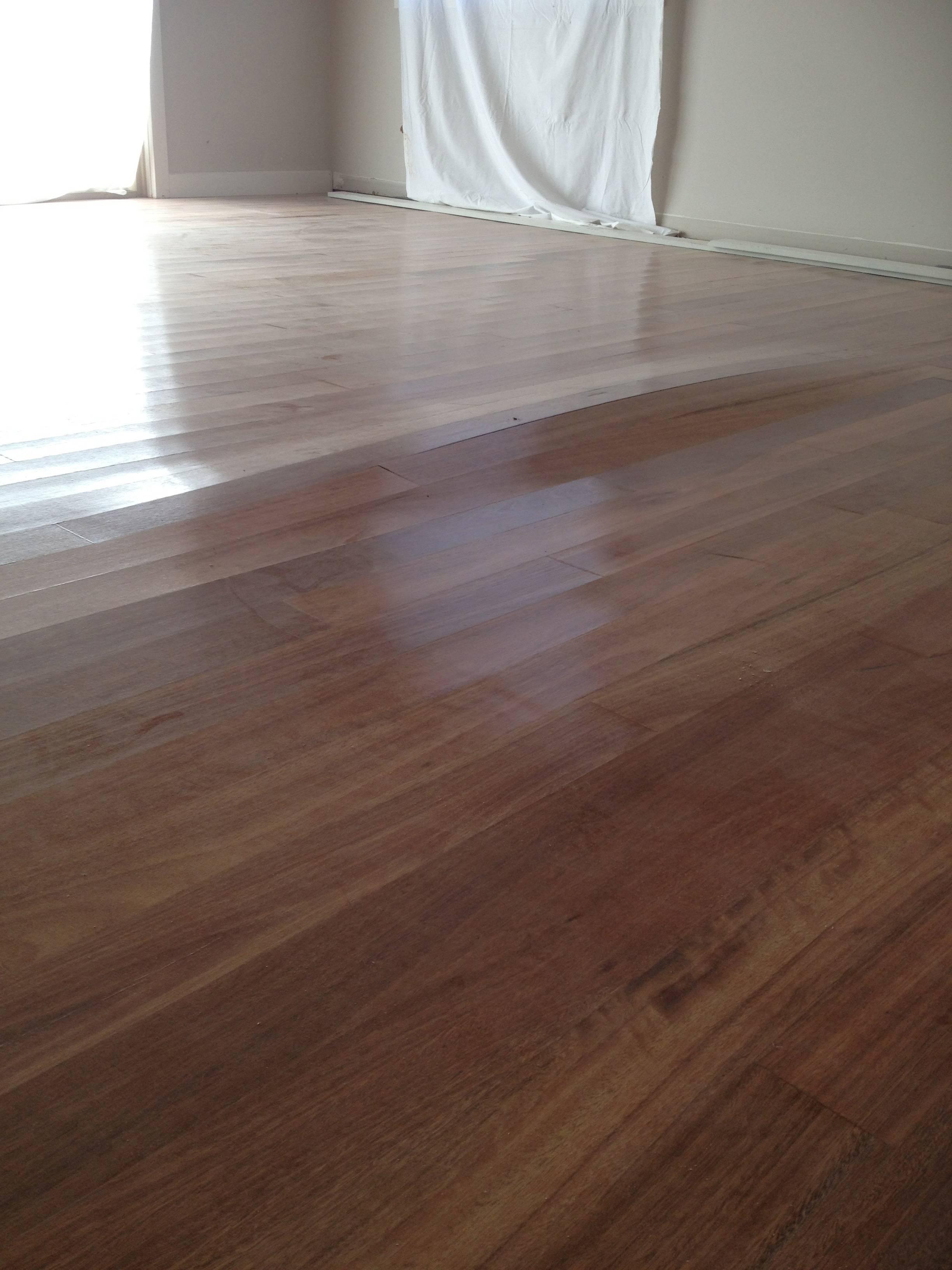 Moisture damage on wooden flooring