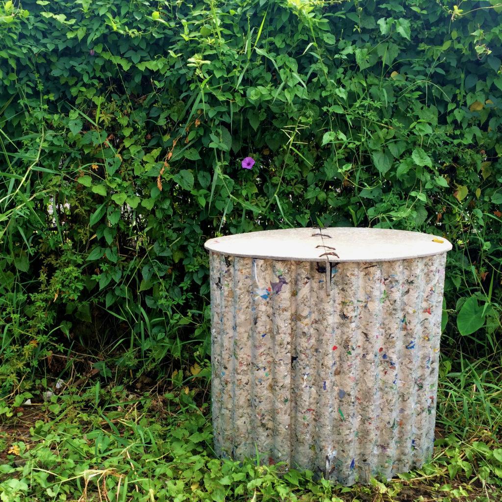 Reclaim materials composting pit - eco-bali