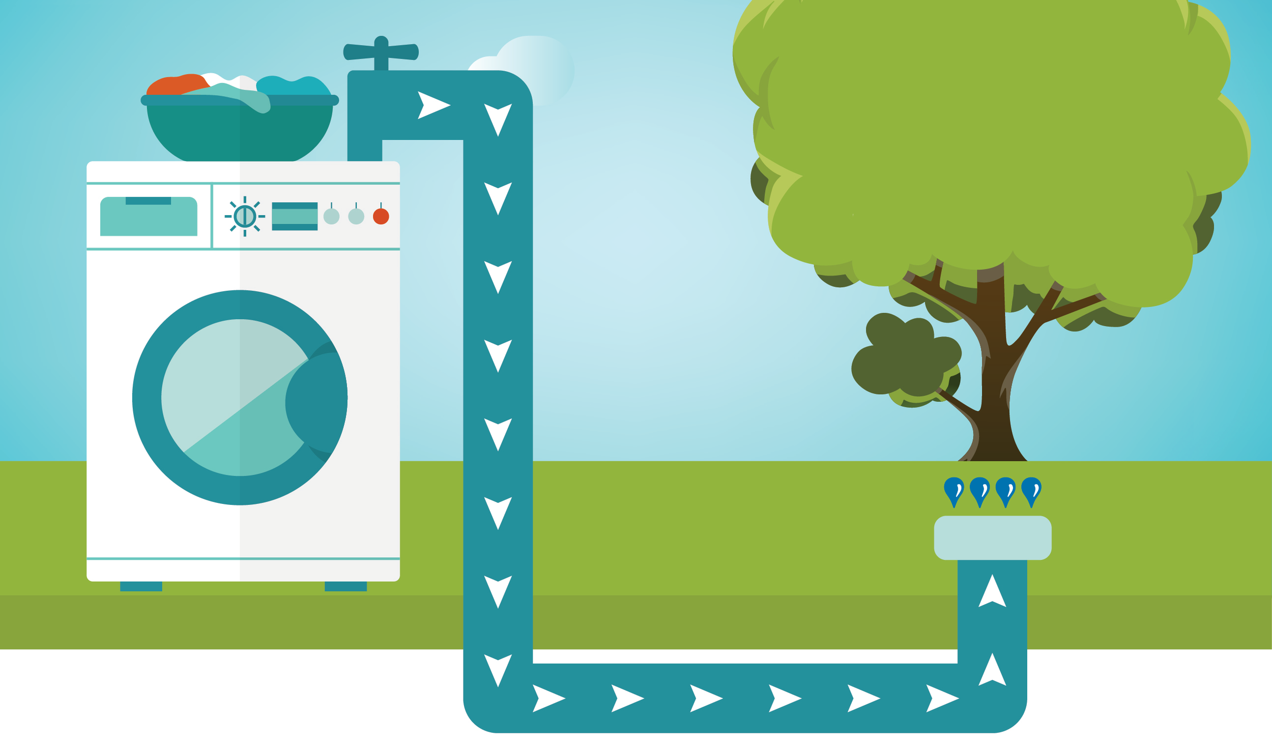 With natural washing machine products this scheme is easily doable - source coastal-watershed.org