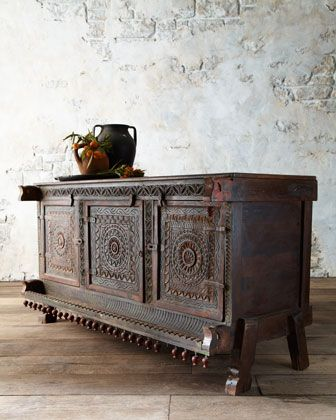 Antique reproduction showcasing Indian woodworkers craftsmanship