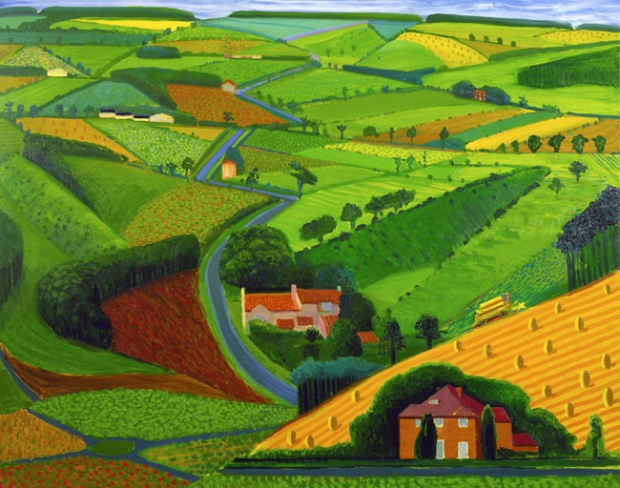 Road Across the Wold, Hockney, U.K., 1997